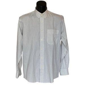 Yves Saint Laurent Textured Striped Dress Shirt